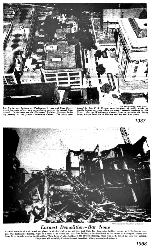The 1968 demolition of 95-99-103 Washington Avenue
