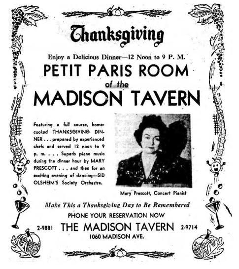 Petit Paris Room at the Madison Tavern