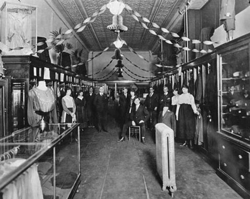 Interior of a typical Menter store, this on in Puebol, Colorado, circa 1920.