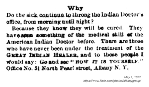 1872 indian doctor