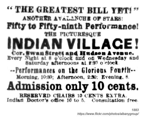 1883 indian village