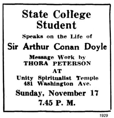1929 unity spiritualist temple
