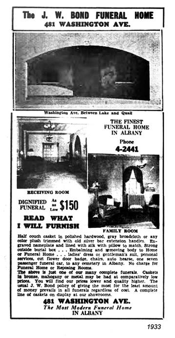 1933 bond funeral home