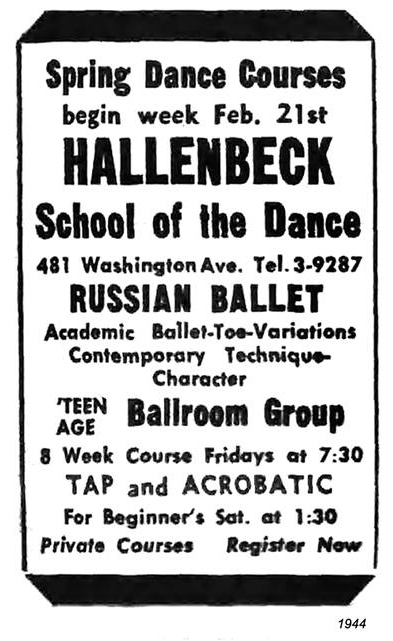 1944 hallenbeck school of dance