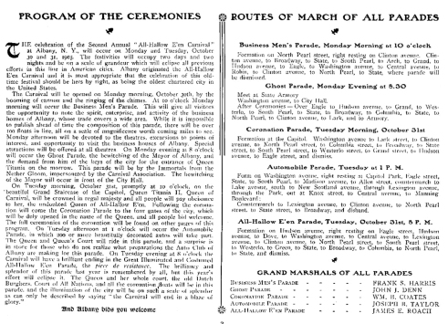program and marches