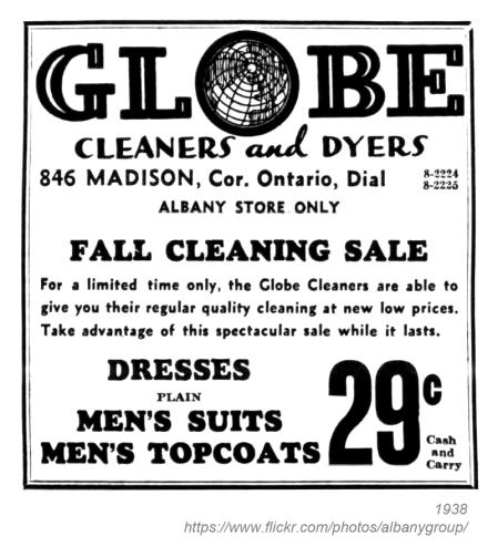 1938 globe cleaners